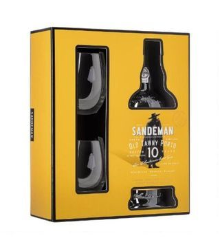 sandeman 10 years gift pack